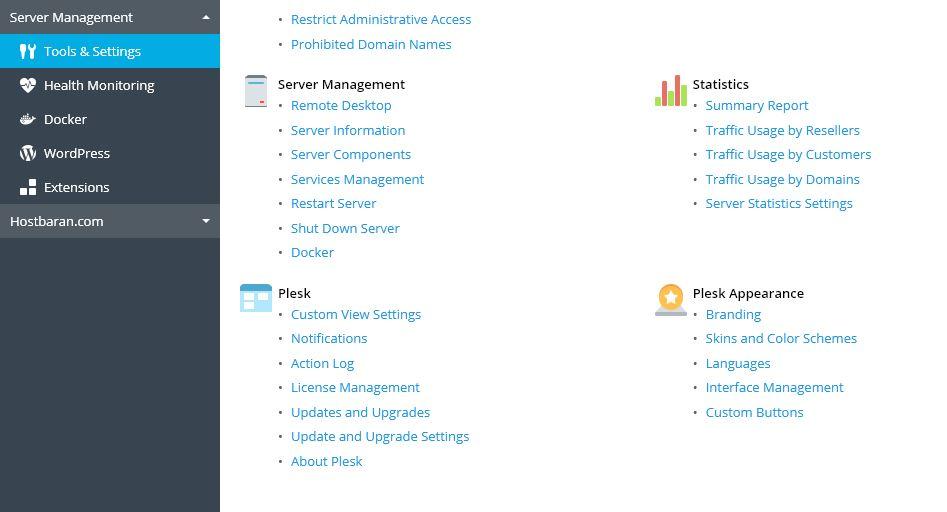 Tools & Settings تنظیمات پلسک