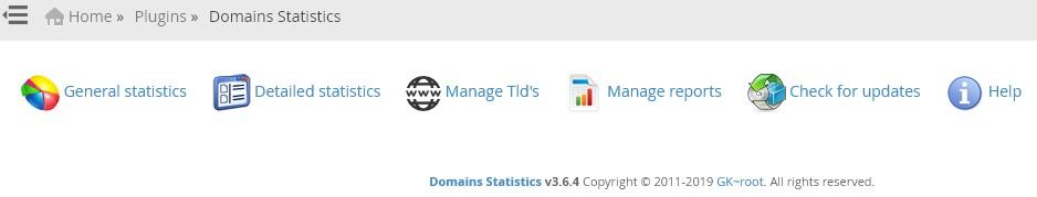 پلاگین Domains Statistics