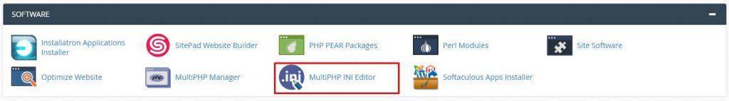 تغییر در php.ini