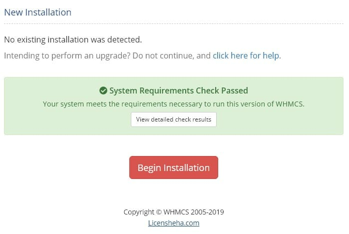 مراحل نصب whmcs